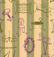 seamless with elements of furniture vector image vector image