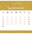 september 2018 calendar popular premium vector image