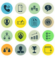 set of 16 management icons includes cellular data vector image vector image