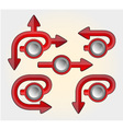 set of buttons arrows vector image
