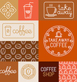 set of design elements for coffee houses and shops vector image vector image