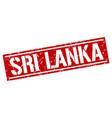 sri lanka red square stamp vector image vector image