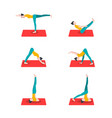 stylish collection with yoga for healthy lifestyle vector image