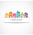 Suburban homes icon vector image vector image