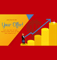 successful businessman banner template vector image vector image