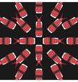 sushi pattern on dark background flat style vector image vector image