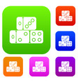 three dice cubes set collection vector image vector image