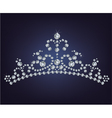 Tiara crown womens wedding made from diamonds vector image vector image