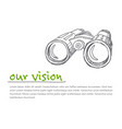 vison - minimalist concept ilustration vector image vector image