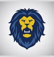 wild lion roar logo vector image vector image