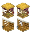 zebra and lama in cozy enclosures for animals vector image vector image