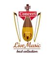 Violin with bows Concert live music emblem vector image