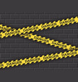 restrictive yellow tape danger against a brick vector image