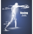 Abstract boxing from dot flying lightning vector image vector image