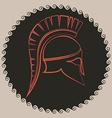Ancient Greek battle helmet vector image vector image