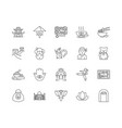 asia line icons signs set outline vector image vector image