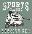 Baseball pro vector image