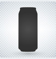 beer or soda can icon on light background vector image vector image