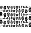 black leaf of rowan on white background vector image