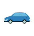 blue passenger city car side view in flat style vector image vector image