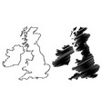 british isles map vector image vector image