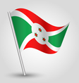 burundian flag on pole vector image vector image