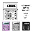 calculatorrealtor single icon in cartoon style vector image vector image