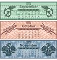 Calendar 2014 Autumn vector image vector image