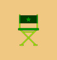 cinema producer seat in flat vector image vector image