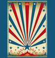 circus vintage red blue poster vector image vector image