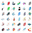 computer virus icons set isometric style vector image vector image