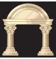 corinthian realistic antique greek temple vector image