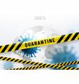 coronavirus quarantine background virus vector image vector image