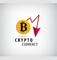crypto currency logo icon vector image