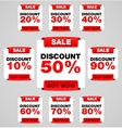 Discount or sale tag vector image vector image