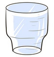 empty glass on white background vector image vector image