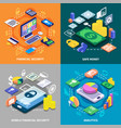 financial 2x2 isometric concept vector image vector image