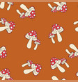 fly-agaric pattern seamless pantone vector image