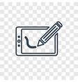 graphic tablet concept linear icon isolated on vector image