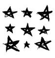 hand drawn stars vector image vector image
