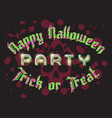 happy halloween party lettering retro poster vector image vector image