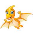 happy pterodactyl flying vector image