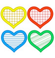 hearts icons set abstract romantic forms of hearts vector image