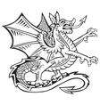 heraldic dragon no2 vector image vector image
