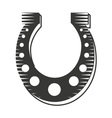 horse shoe luck icon vector image vector image