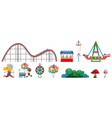 isolated objects from circus theme with people vector image