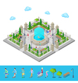 Isometric Park City Park Active People Outdoors vector image vector image