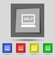 Laptop tech service icon sign on original five vector image vector image