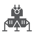 lunar module glyph icon science and astronomy vector image vector image