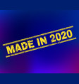 made in 2020 grunge stamp seal on gradient vector image vector image